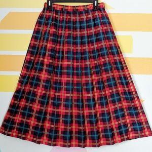 Vintage Susan Bristol Tartan Plaid Maxi Skirt